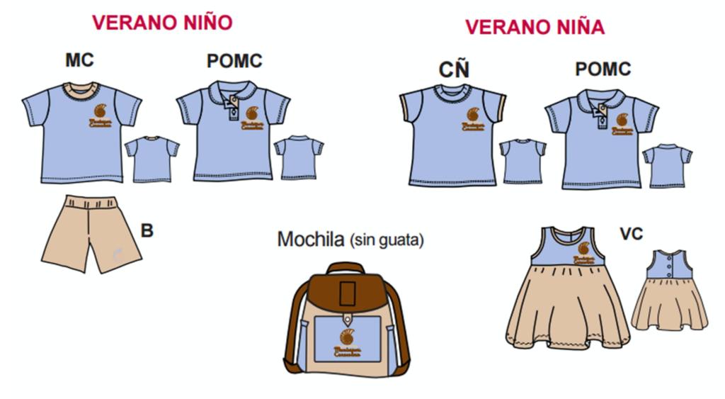 Uniformes De Colegio Montessori Caracoliris 2020 Verano