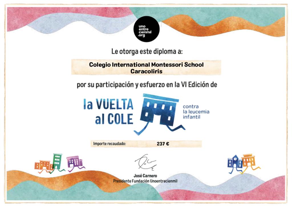 Diploma Vi Edición De La Vuelta Al Cole